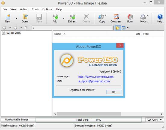 PowerISO 7.5 Serial Key