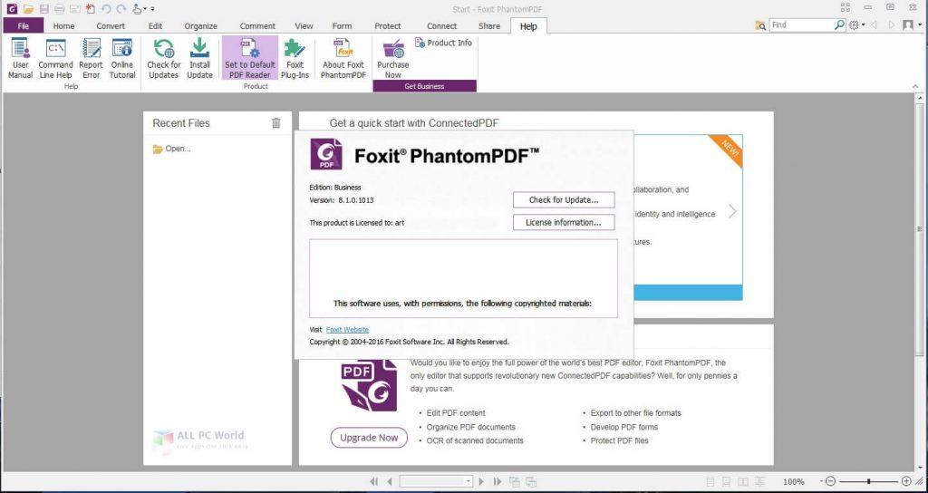 Foxit PhantomPDF Business 9.7.1 free