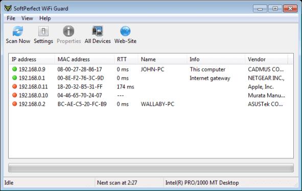 SoftPerfect WiFi Guard 2.1.2 keygen