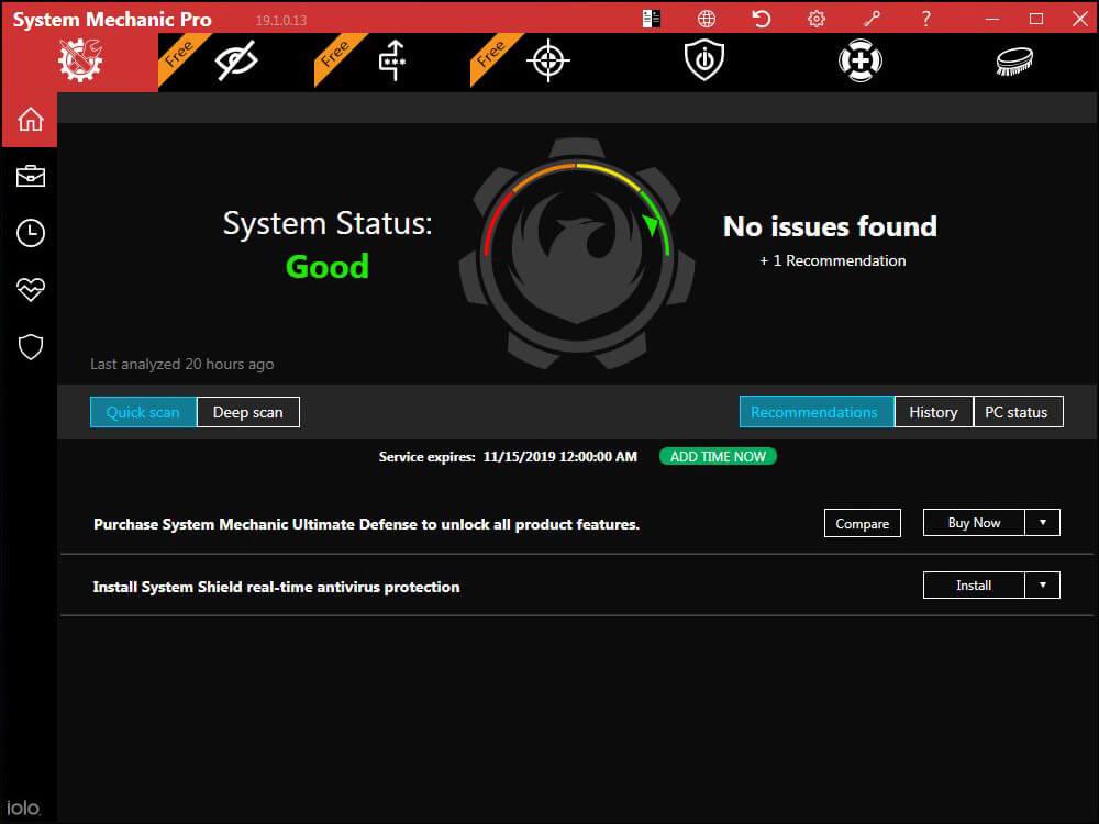 System Mechanic Pro 20 activation key
